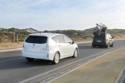 Erwischt: Prius+ am Set in Portugal