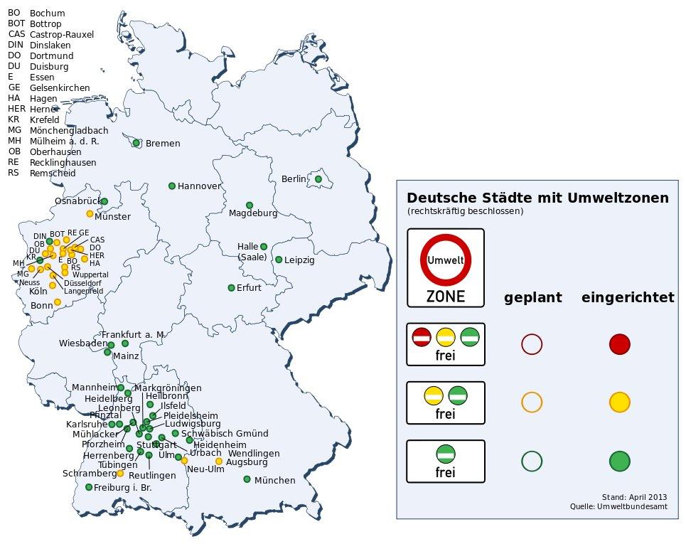 information rund um die umweltzonen in deutschland. Black Bedroom Furniture Sets. Home Design Ideas